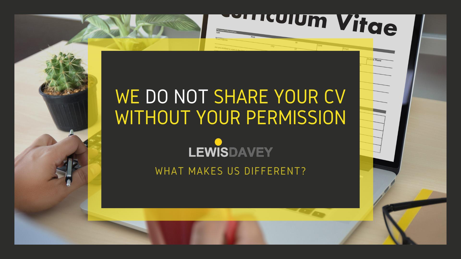 CV sharing - what makes us diferent